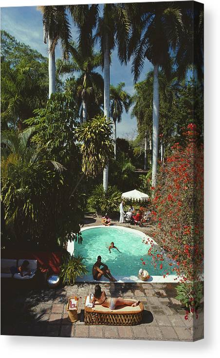 1980-1989 Canvas Print featuring the photograph Mazatlan Mansion by Slim Aarons