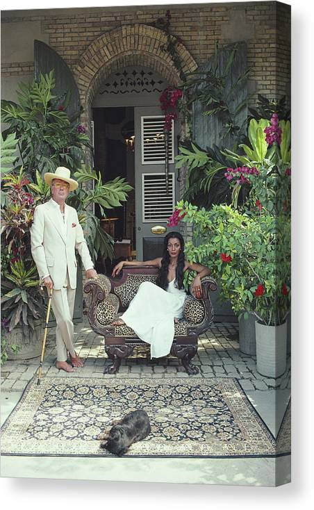 Pets Canvas Print featuring the photograph Olivier Coquelin by Slim Aarons