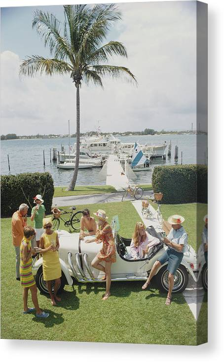 People Canvas Print featuring the photograph Palm Beach Society by Slim Aarons