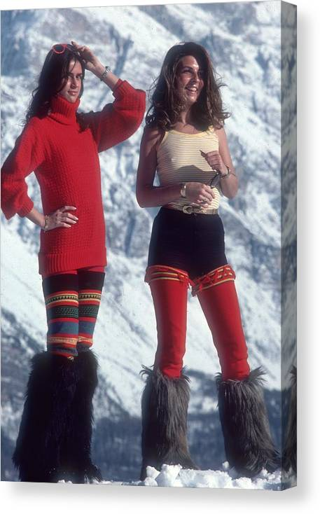 People Canvas Print featuring the photograph Winter Wear by Slim Aarons
