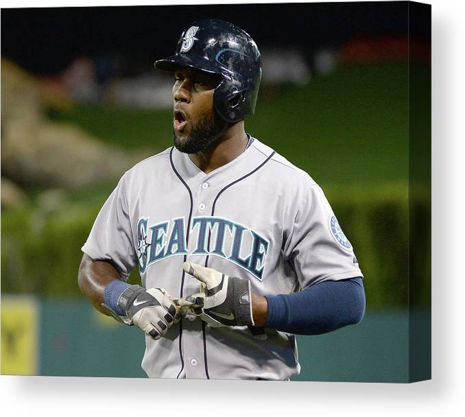 Double Play Canvas Print featuring the photograph Seattle Mariners V Los Angeles Angels by Harry How