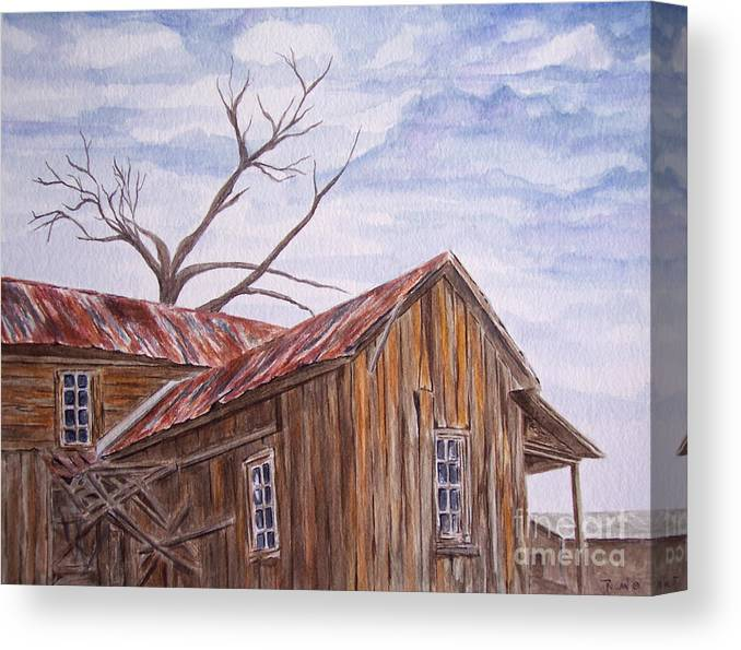 Old House Canvas Print featuring the painting 1800's by Regan J Smith