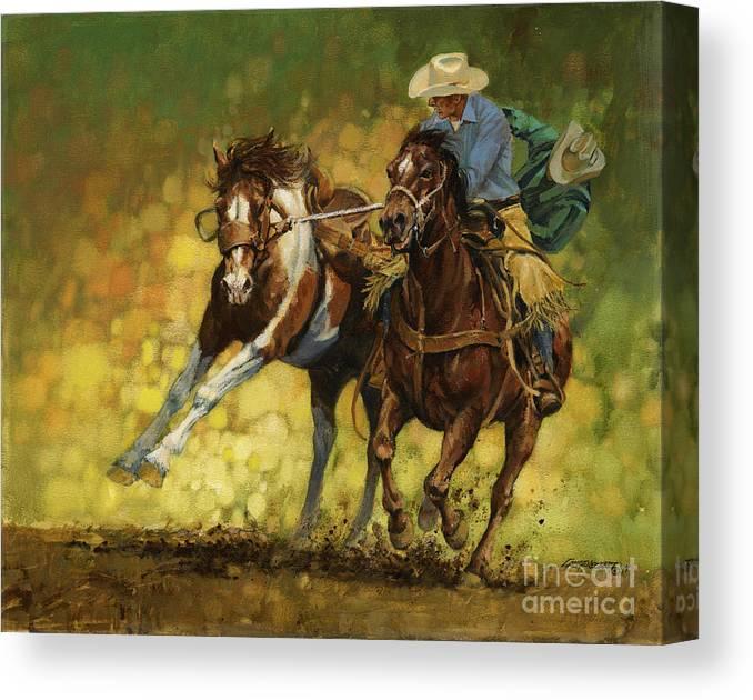Rodeo Pickup Canvas Print Canvas Art By Don Langeneckert