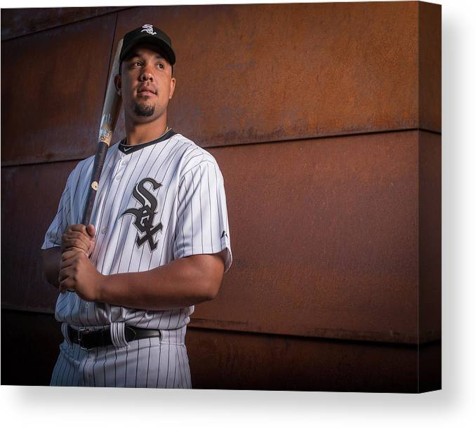 Media Day Canvas Print featuring the photograph Chicago Whte Sox Photo Day by Rob Tringali