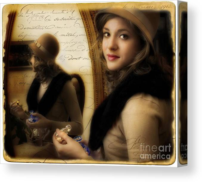 Woman Canvas Print featuring the photograph Aromatique by Jean Hildebrant