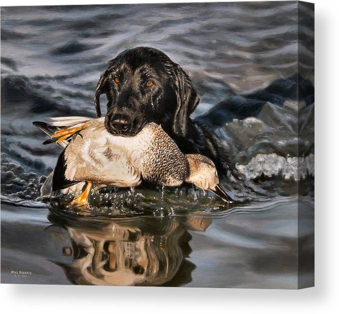 Louisiana Art Canvas Print featuring the painting Bring Home The Bird by Mike Roberts