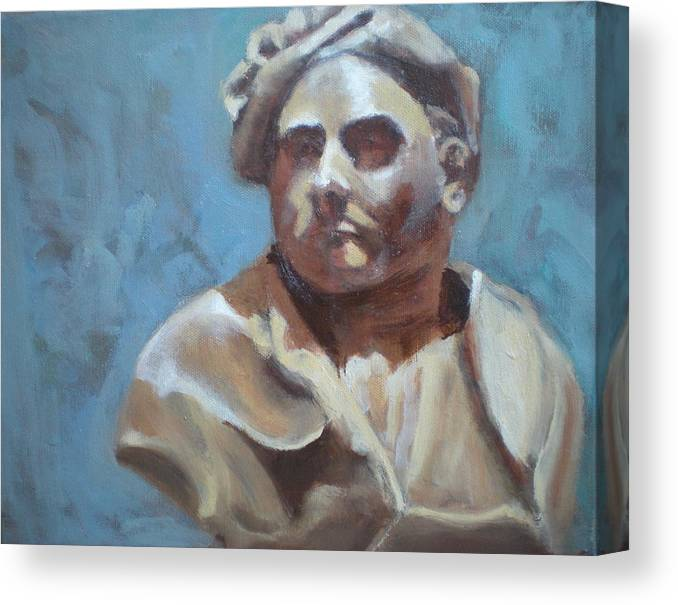Portrait Of Bust Canvas Print featuring the painting Bust by Bryan Alexander