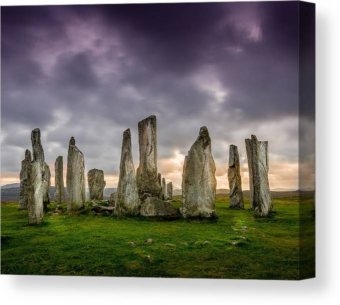 Callanish Canvas Print featuring the photograph Callanish Stones by Peter OReilly