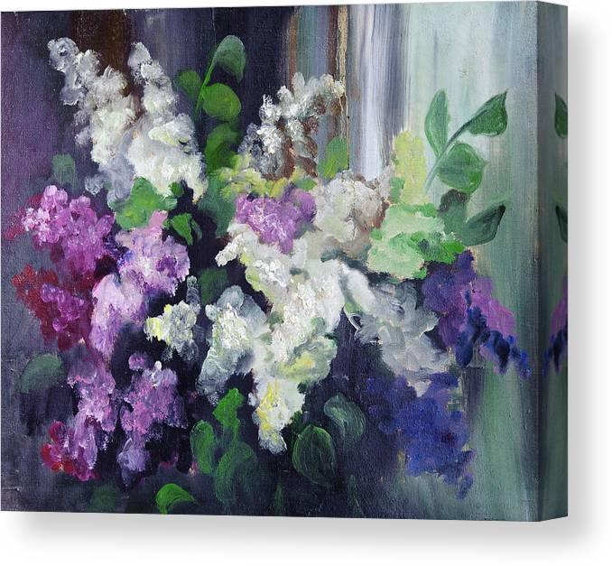 Art Canvas Print featuring the digital art Composition Of Lilac by Balticboy
