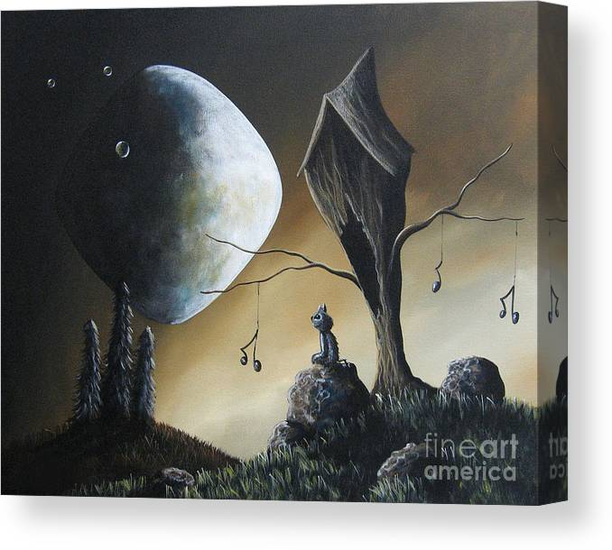 Cats Canvas Print featuring the painting Even Cats Have Strange Dreams by Shawna Erback by Fairy and Fairytale
