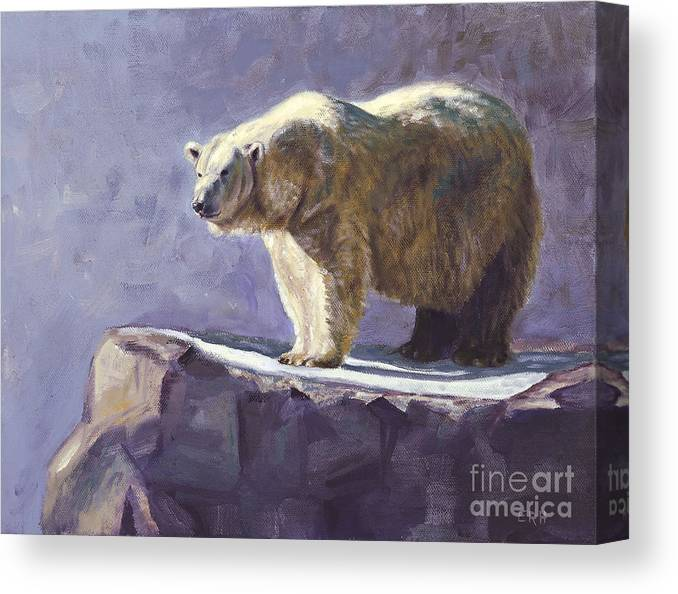 Animal Canvas Print featuring the painting First Light by Elizabeth Rieke Hefley