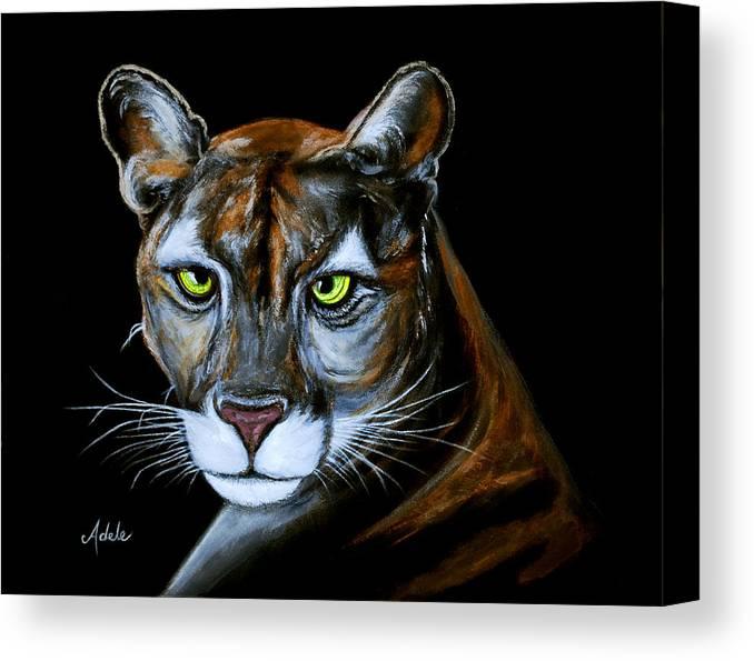 Jaguar Growling Panther Canvas Art Print By: Florida Panther Jeremiah Canvas Print / Canvas Art By