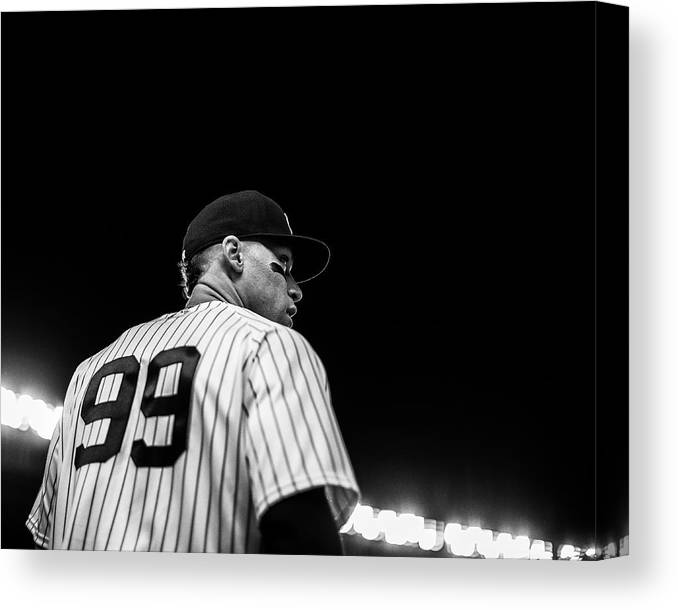 People Canvas Print featuring the photograph Houston Astros v New York Yankees by Rob Tringali/Sportschrome
