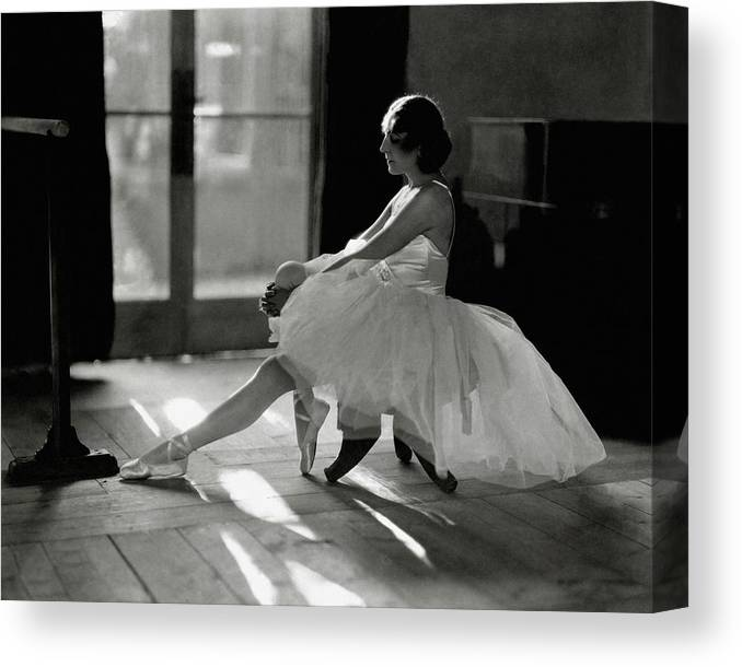 Dance Canvas Print featuring the photograph Ida Rubinstein Wearing A Tutu by Phyllis Abbe