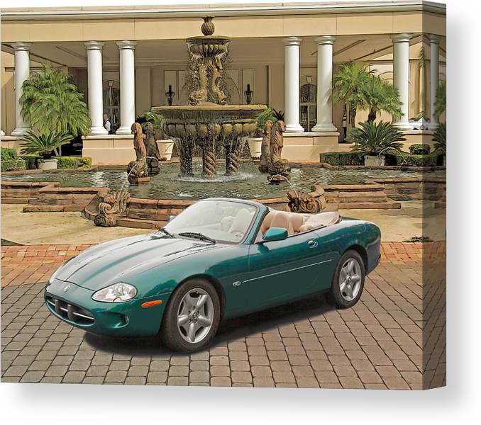 Jaguar Canvas Print featuring the photograph Jaguar Xk8 by Larry Linton