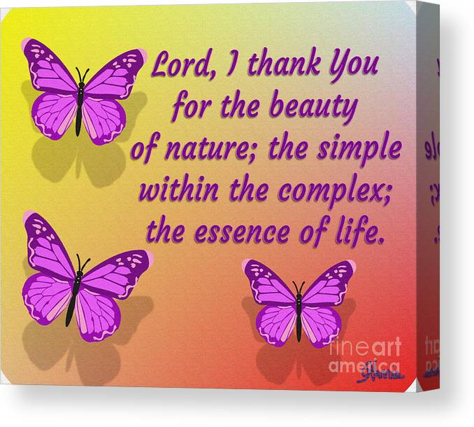 Lord I Thank You For The Beauty Of Nature Canvas Print featuring the digital art Lord I Thank You for the Beauty of Nature by Pharris Art