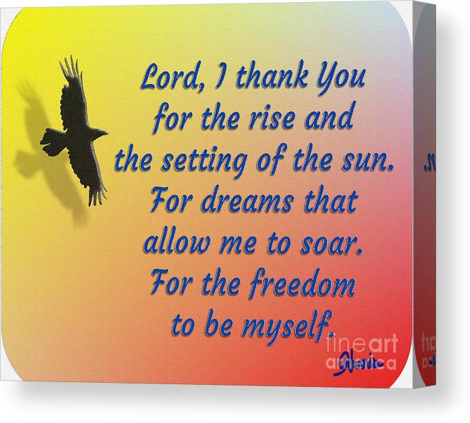 Lord I Thank You For The Freedom Canvas Print featuring the painting Lord I Thank You for the Freedom by Pharris Art