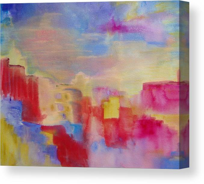 Watercolor Canvas Print featuring the painting Mesa by Phoenix Simpson