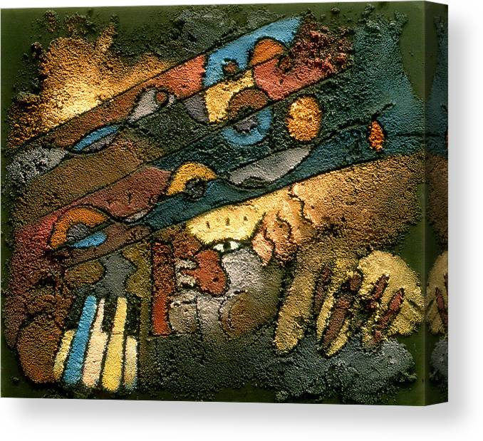 Piano Music Canvas Print featuring the painting Monica's Music by Ross Drago