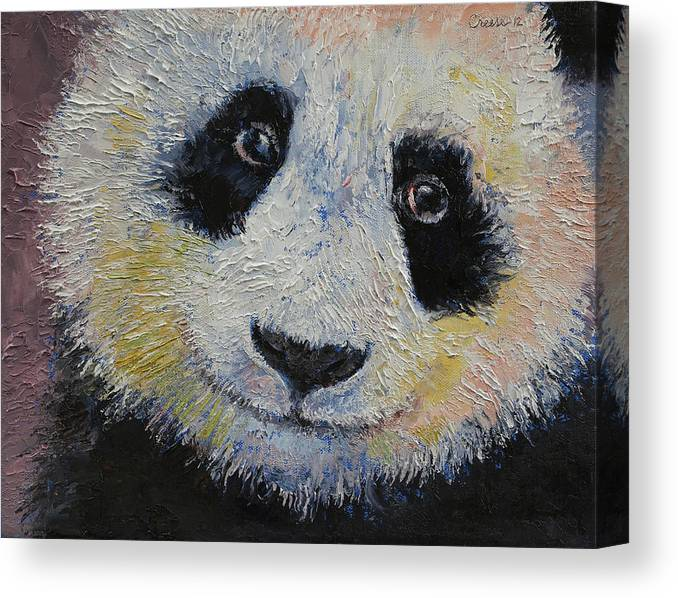 Panda Smile Canvas Print Canvas Art By Michael Creese