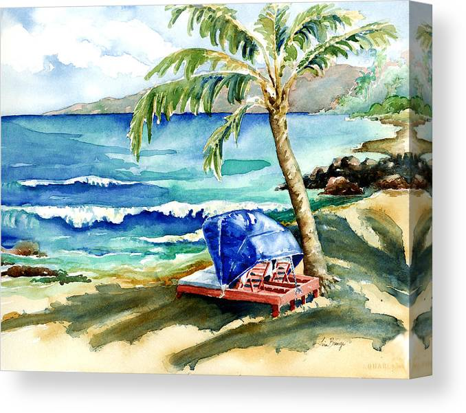 Mauna Lani Canvas Print featuring the painting Peaceful Bay by Lisa Bunge
