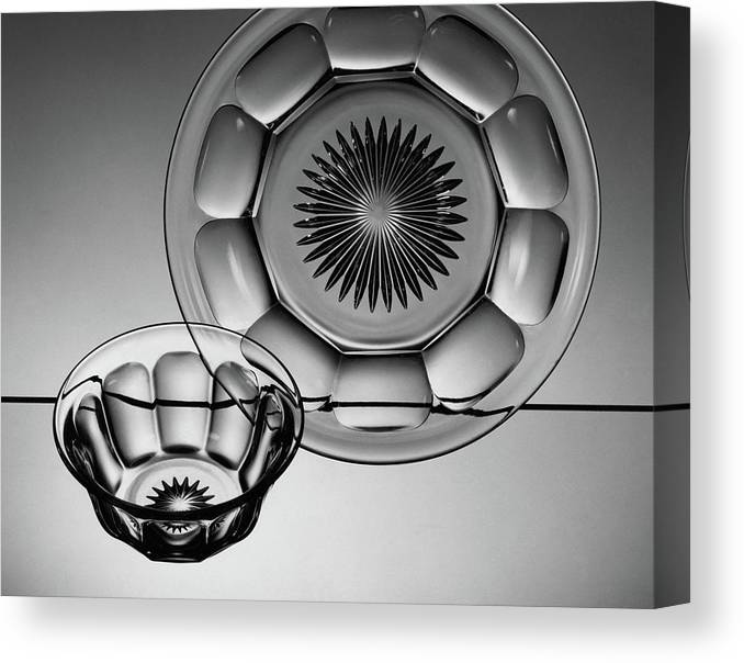 Home Accessories Canvas Print featuring the photograph Plate And Bowl by Martinus Andersen