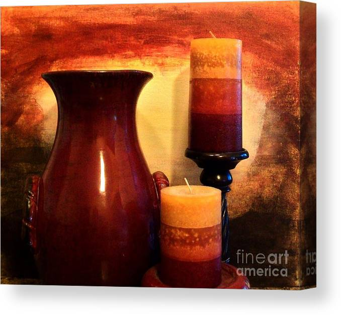 Photo Canvas Print featuring the photograph Red Gold by Marsha Heiken