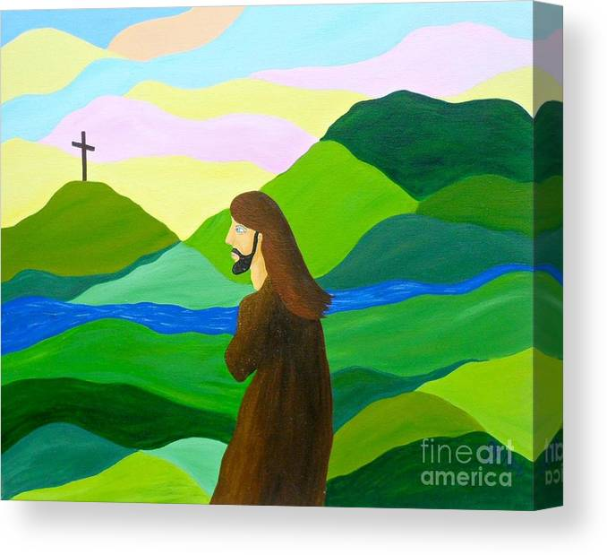 God Canvas Print featuring the painting Risen A New Dawn by JoNeL Art