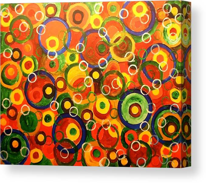 Canvas Print featuring the painting Rotelline by Biagio Civale