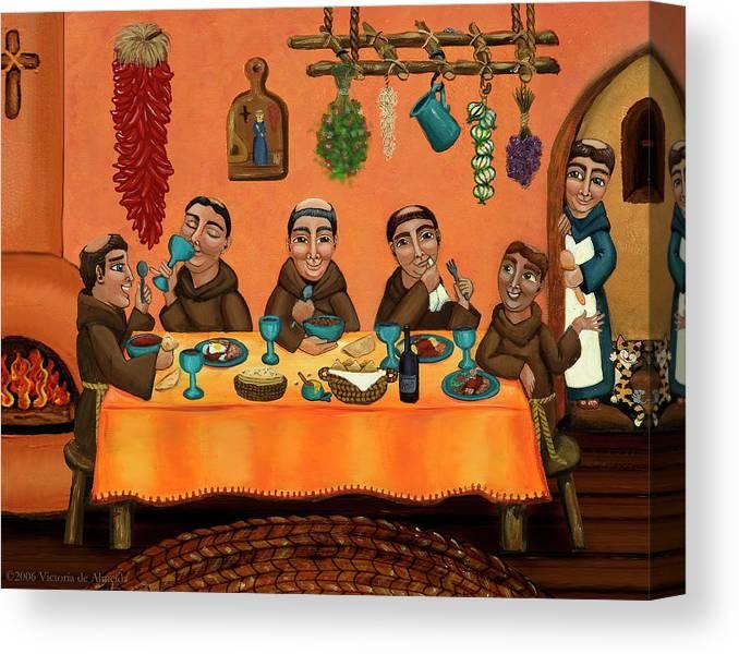 Hispanic Art Canvas Print featuring the painting San Pascuals Table by Douglas Jones