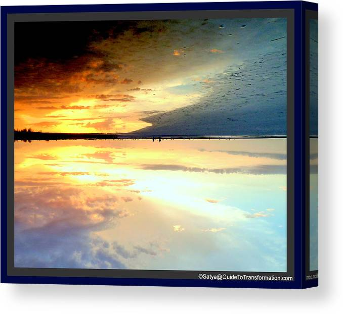 Water Canvas Print featuring the photograph Sky Meets Water by Satya Winkelman