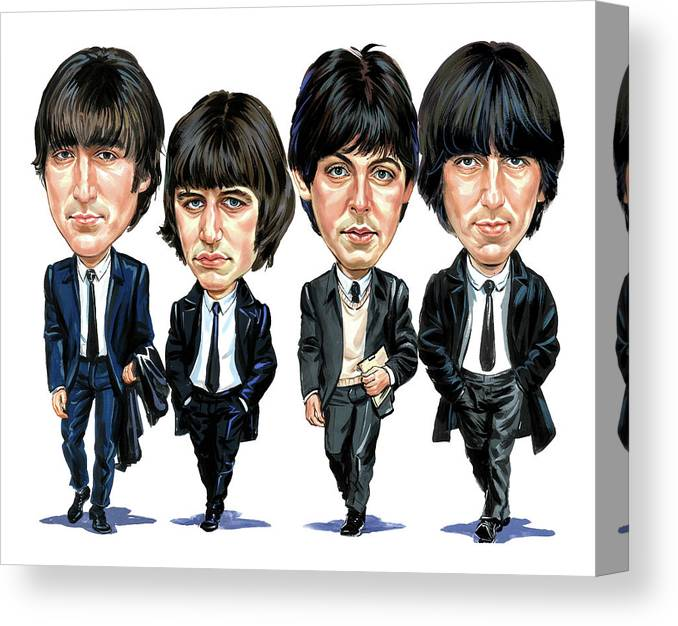 The Beatles Canvas Print featuring the painting The Beatles by Art