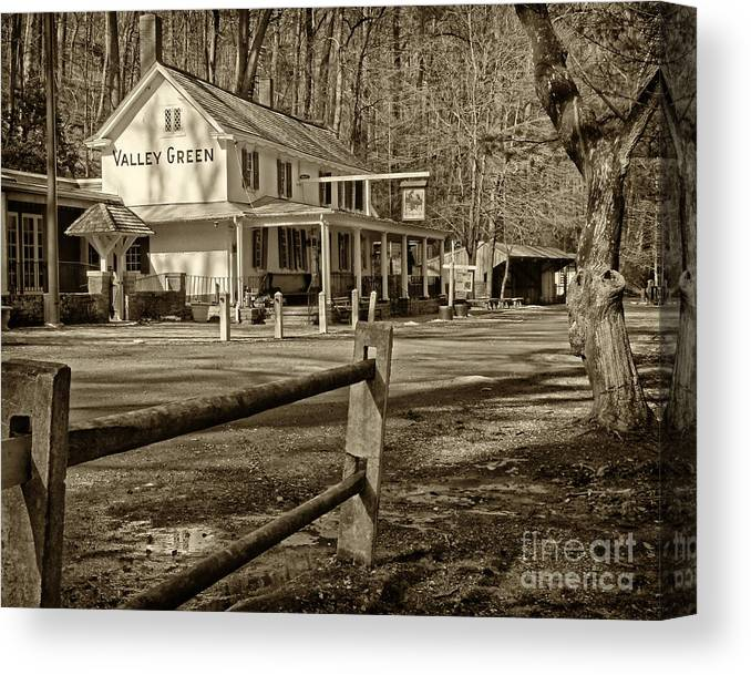 Valley Green Inn Canvas Print featuring the photograph Valley Green Inn 2 by Jack Paolini