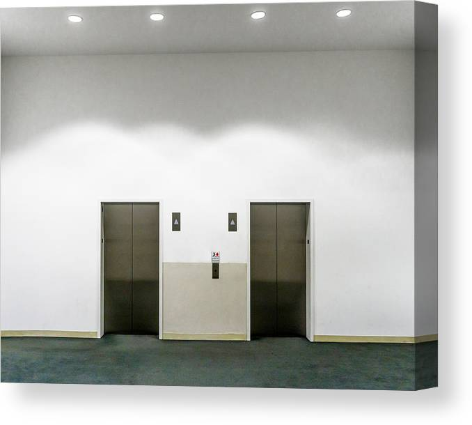 Empty Canvas Print featuring the photograph View Of Elevators by Jesse Coleman / EyeEm