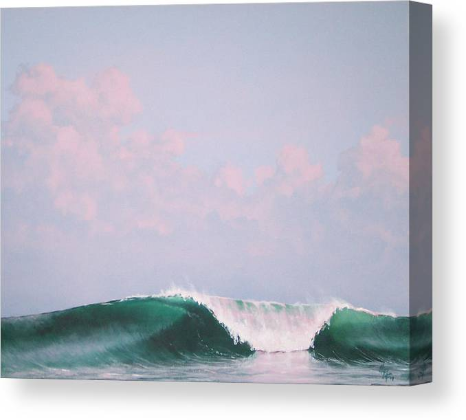 Wave Canvas Print featuring the painting Wave at Twilight by Philip Fleischer