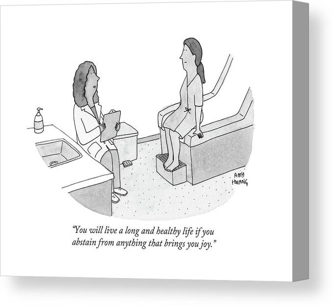 Doctor Canvas Print featuring the drawing You Will Live A Long And Healthy Life If by Amy Hwang