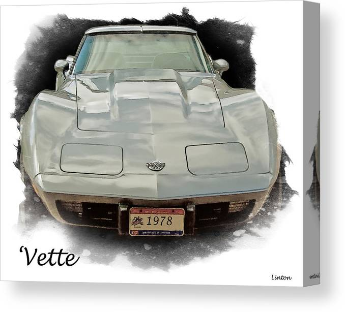 Chevrolet Corvette Canvas Print featuring the digital art 1978 Corvette by Larry Linton