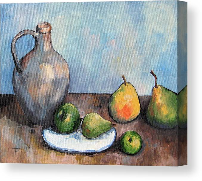 Cezanne Canvas Print featuring the painting Cezanne's Jug by Torrie Smiley