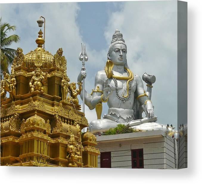 Large Canvas Print featuring the photograph Inside Murudeshwara Temple 2 by Sandeep Gangadharan