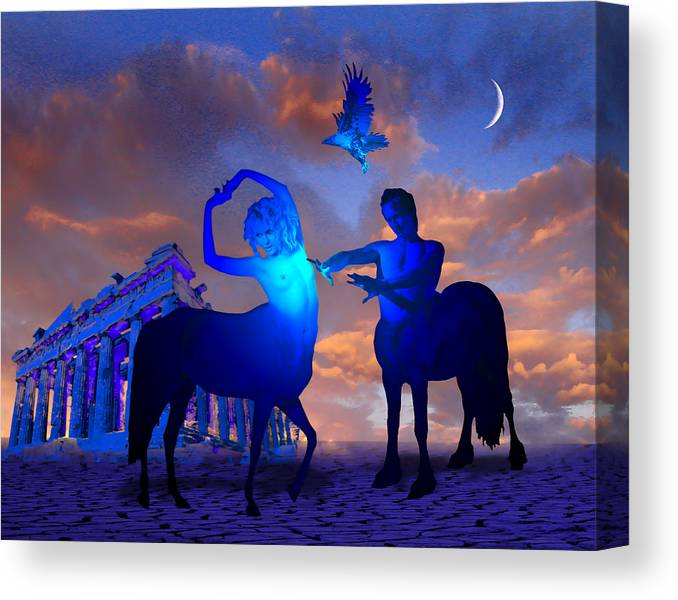 Centaurs Canvas Print featuring the photograph Just a Myth by Jim Painter