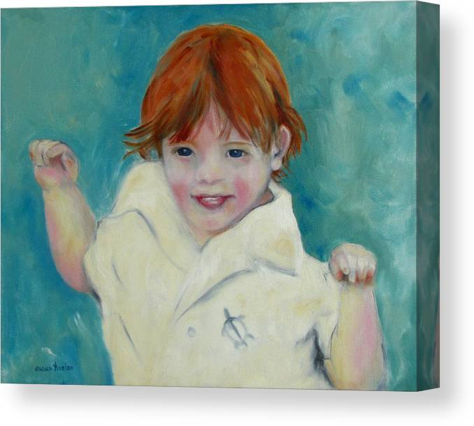 Child Canvas Print featuring the painting Laughter by Susan Hanlon