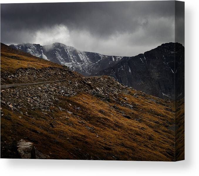 Scenic Canvas Print featuring the photograph Mount Evans by Jim Painter