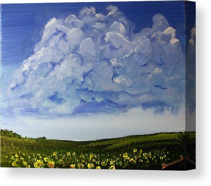 Art Canvas Print featuring the painting Sunflower Field by Raymond Doward