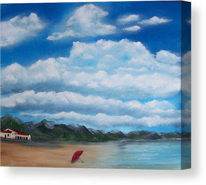 Clouds Canvas Print featuring the painting Clouds by Tony Rodriguez