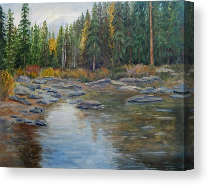 Nature Canvas Print featuring the painting Colorado Reflections by Lorna Skeie