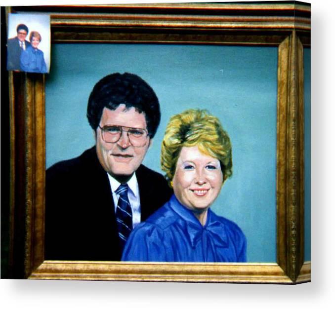Double Portrait Canvas Print featuring the painting Double Portrait by Stan Hamilton