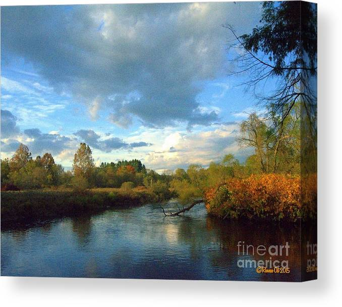 Water Canvas Print featuring the photograph Forest Park by Rennae Christman