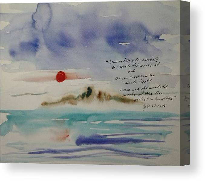 Watercolor Canvas Print featuring the painting How do the Clouds Float by B L Qualls