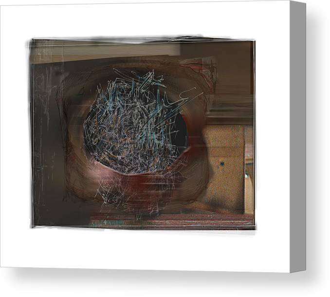 Still Life Canvas Print featuring the digital art Let It Out by Nuff