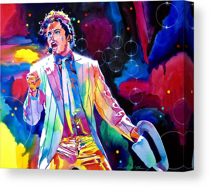 Michael Jackson Canvas Print featuring the painting Michael Jackson Smooth Criminal by David Lloyd Glover